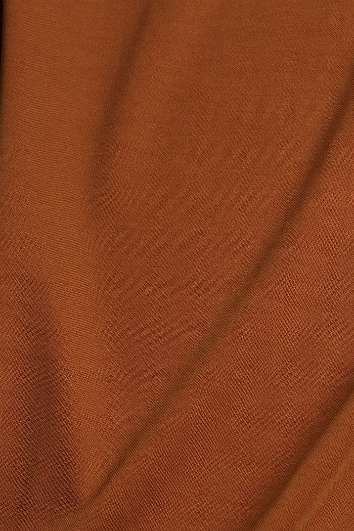 Flowing T-shirt in blended modal, CARAMEL, detail image number 4