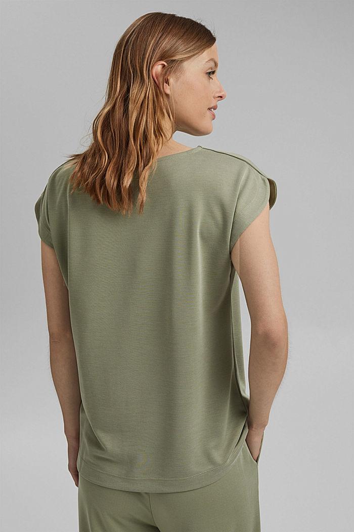 Aus Modal-Mix: fließendes T-Shirt, LIGHT KHAKI, detail image number 3
