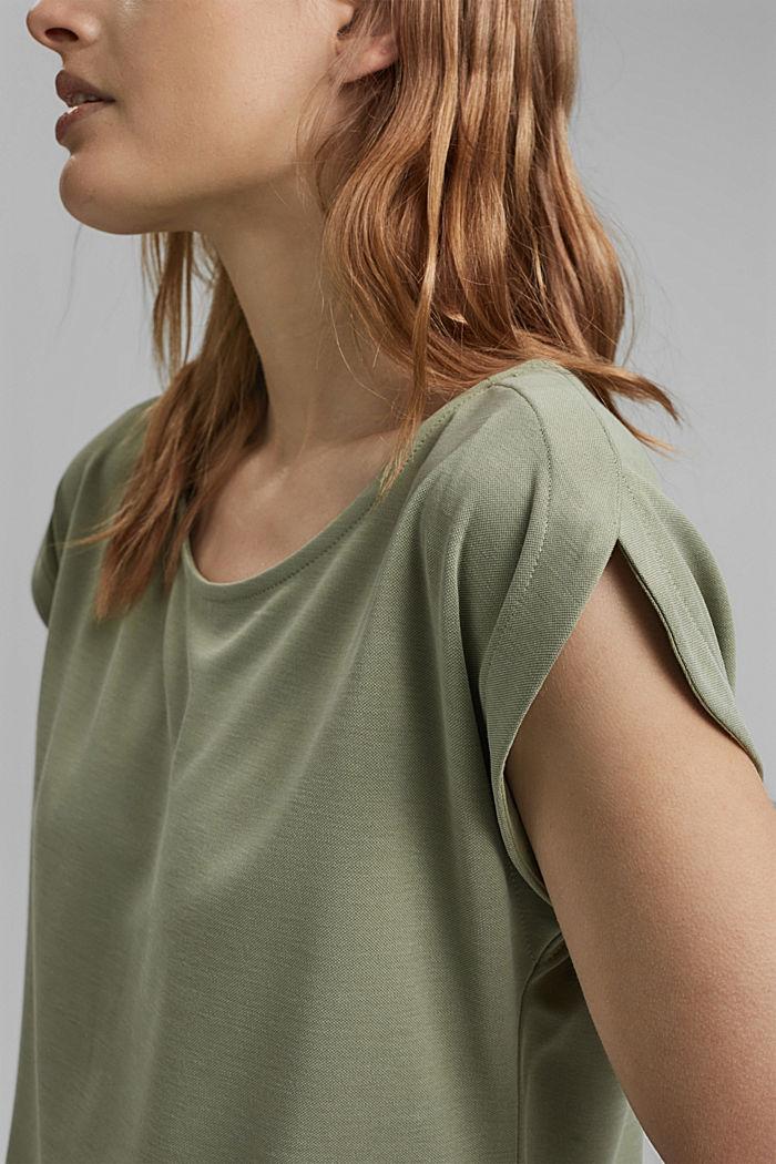 Aus Modal-Mix: fließendes T-Shirt, LIGHT KHAKI, detail image number 2