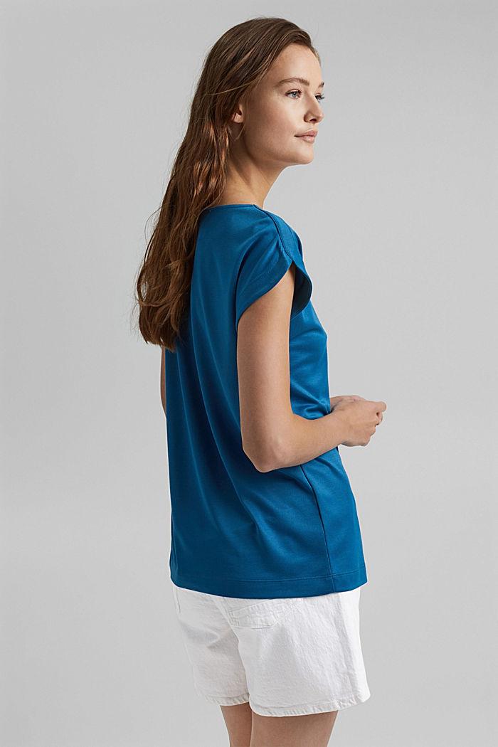 En modal mélangé: le t-shirt fluide, BRIGHT BLUE, detail image number 3