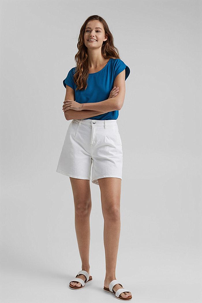 En modal mélangé: le t-shirt fluide, BRIGHT BLUE, detail image number 1