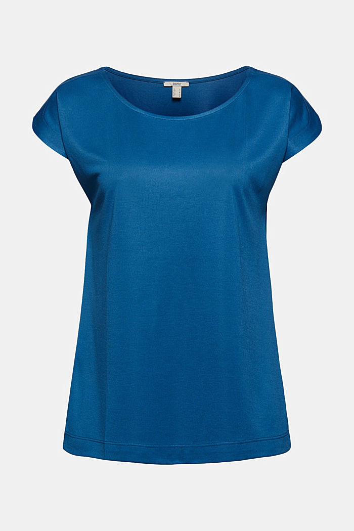 En modal mélangé: le t-shirt fluide, BRIGHT BLUE, detail image number 5