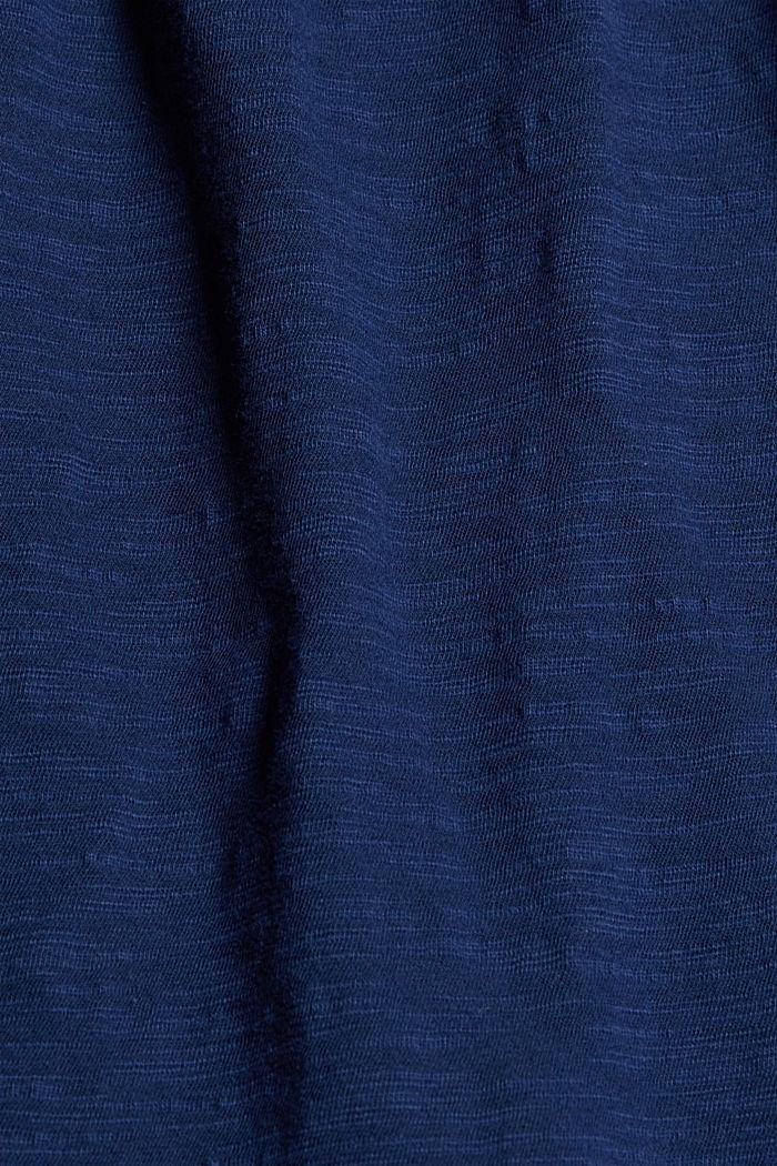 Shirt mit Lochstickerei, 100% Bio-Baumwolle, DARK BLUE, detail image number 4