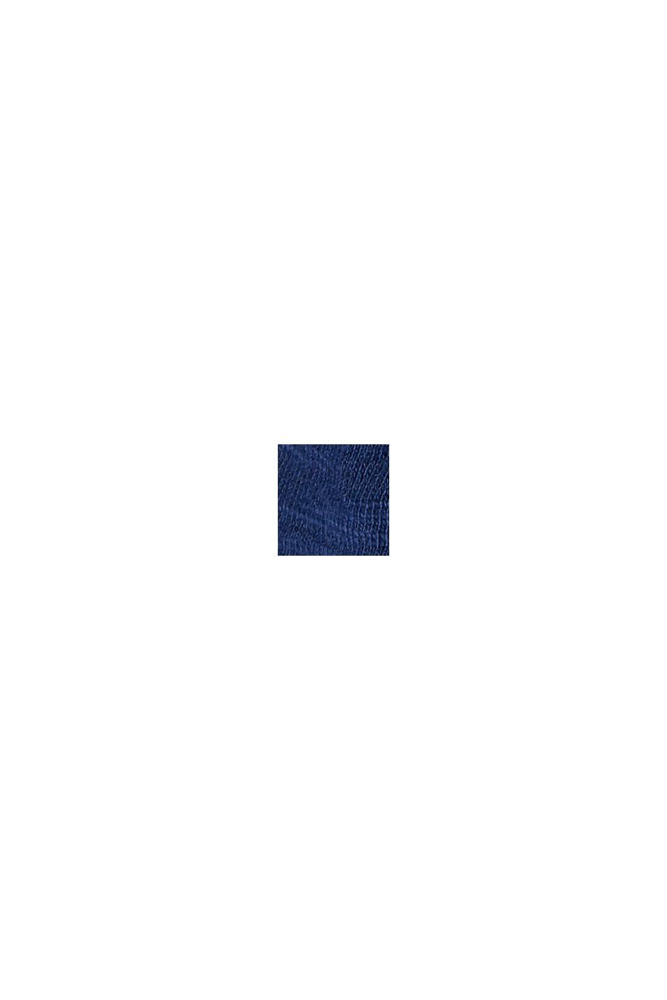 T-shirt orné de broderie anglaise, 100% coton biologique, DARK BLUE, swatch