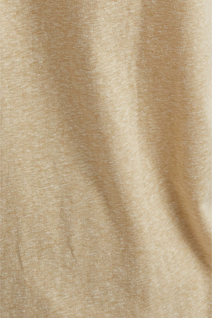 CURVY recyclé: t-shirt en mélange de matières, SAND, detail image number 4