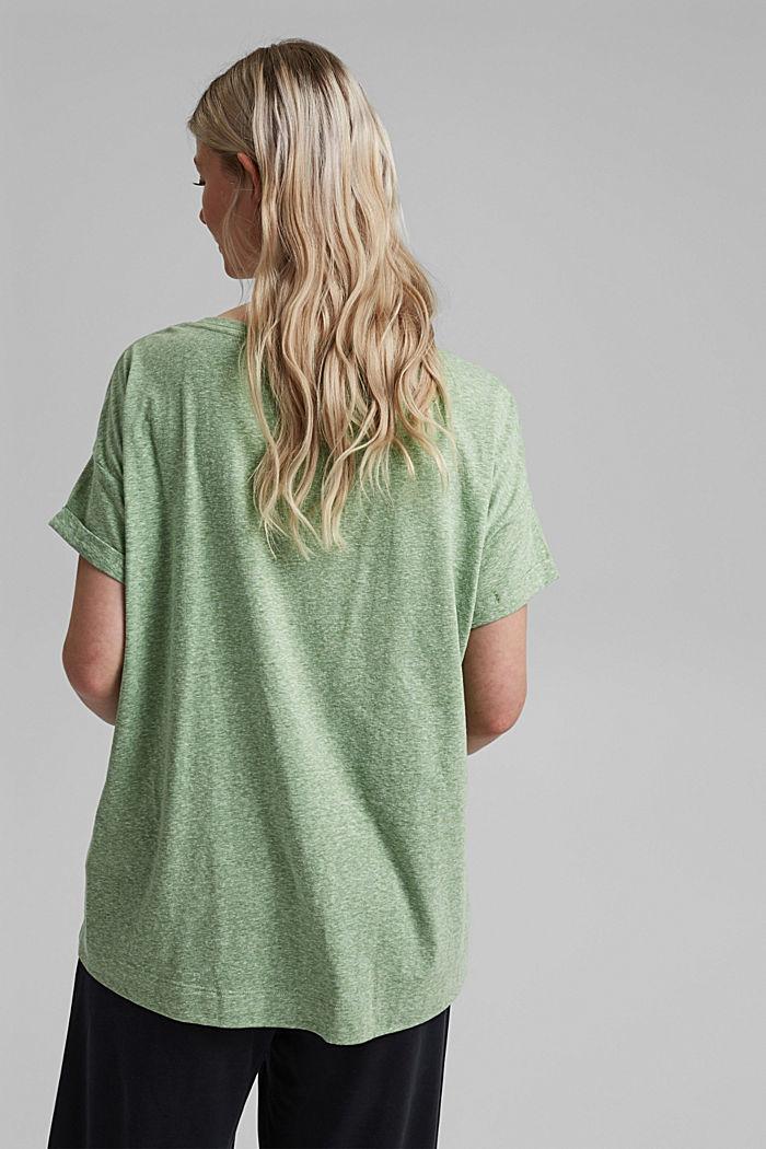 CURVY recyclé: t-shirt en mélange de matières, LEAF GREEN, detail image number 3