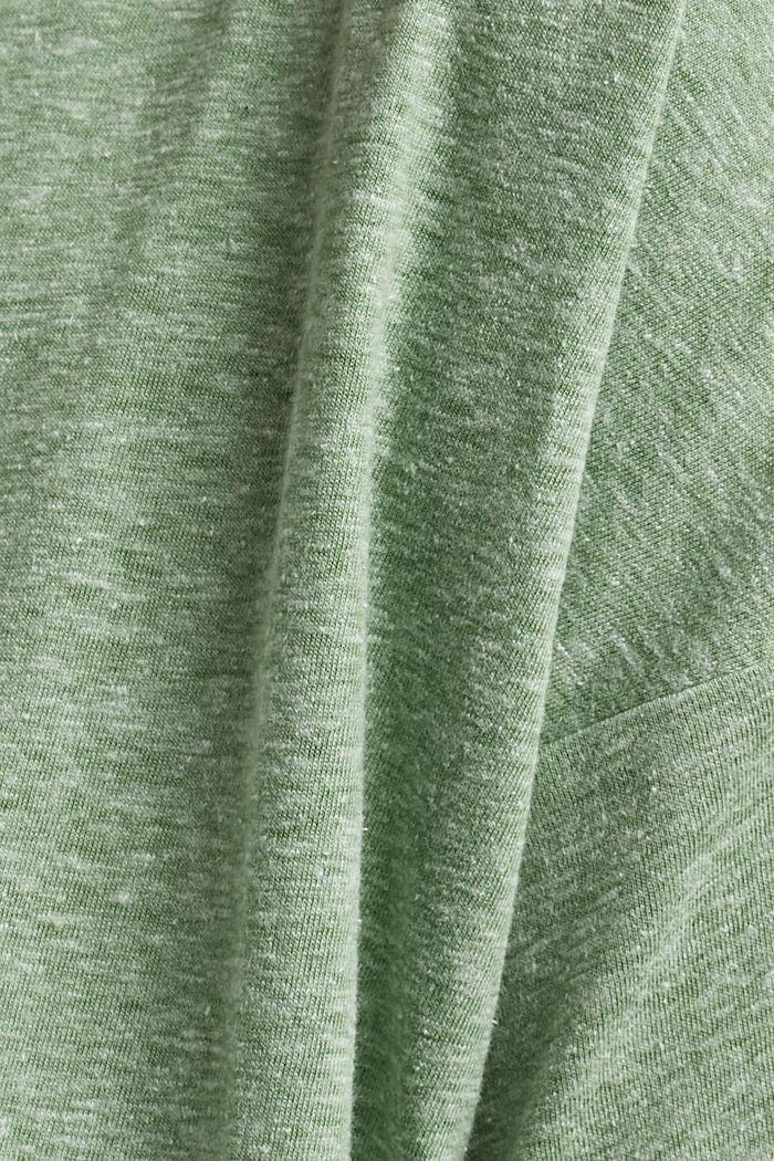 CURVY recyclé: t-shirt en mélange de matières, LEAF GREEN, detail image number 4