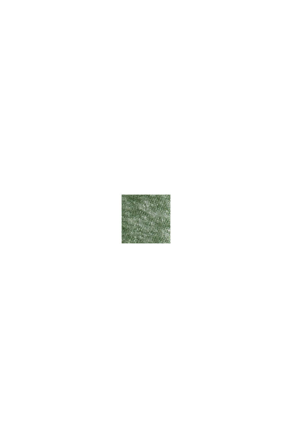 CURVY Recycelt: T-Shirt aus Materialmix, LEAF GREEN, swatch