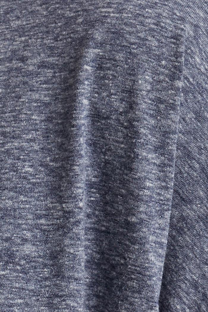 CURVY Recycelt: T-Shirt aus Materialmix, NAVY, detail image number 4