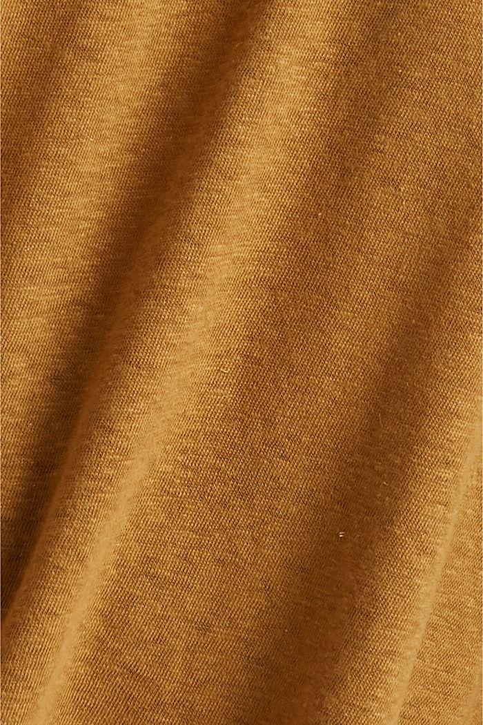 Débardeur CURVY à teneur en lin, CAMEL, detail image number 4