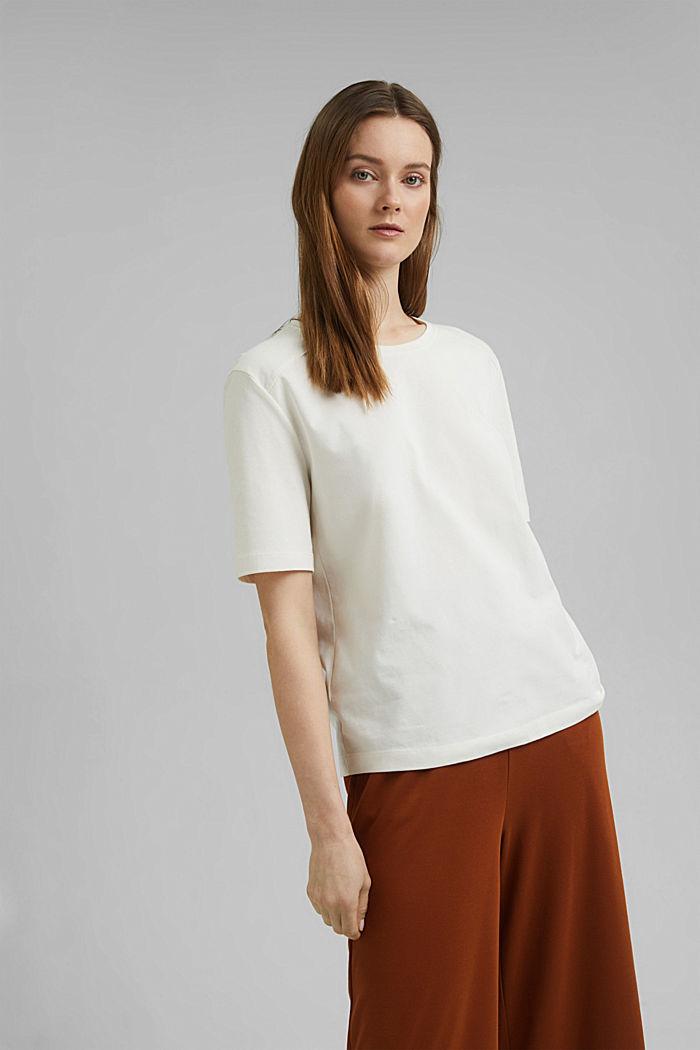 T-shirt 100 % coton biologique, OFF WHITE, detail image number 0