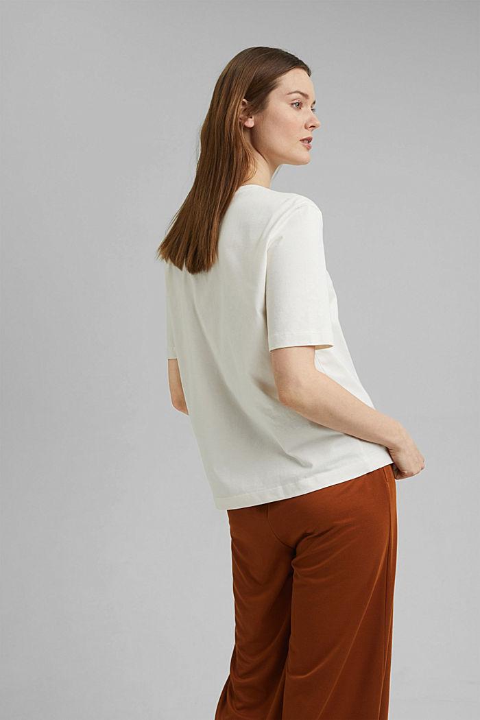 T-shirt 100 % coton biologique, OFF WHITE, detail image number 3