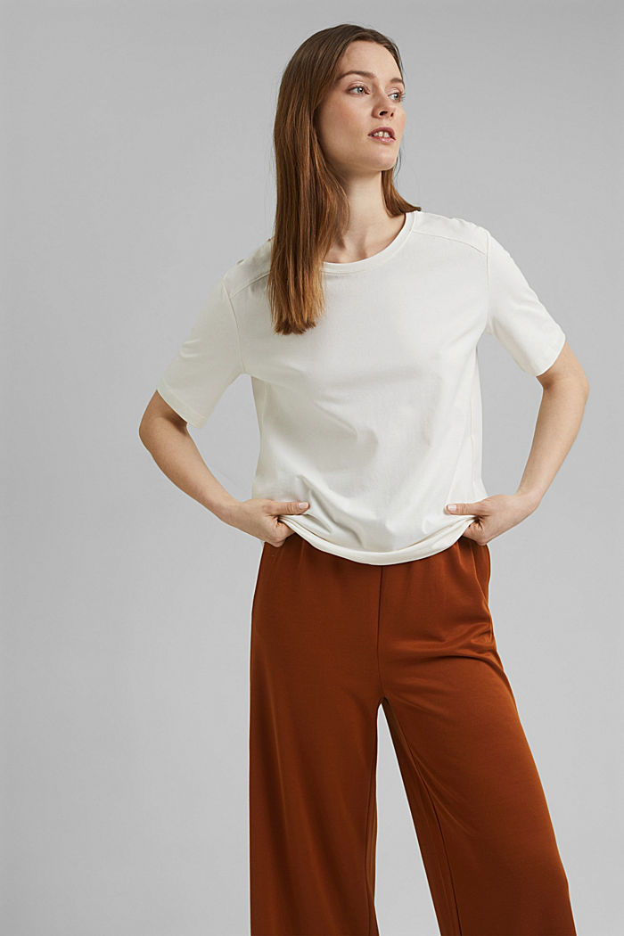 T-shirt 100 % coton biologique, OFF WHITE, detail image number 5