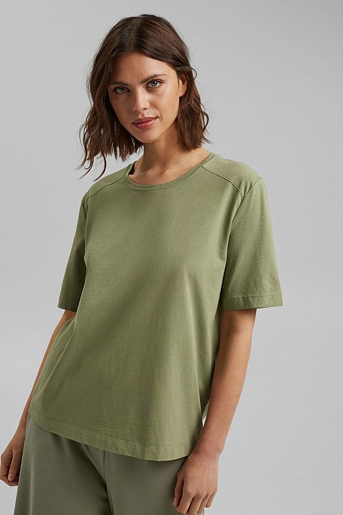 T-Shirt aus 100% Organic Cotton, LIGHT KHAKI, detail image number 0