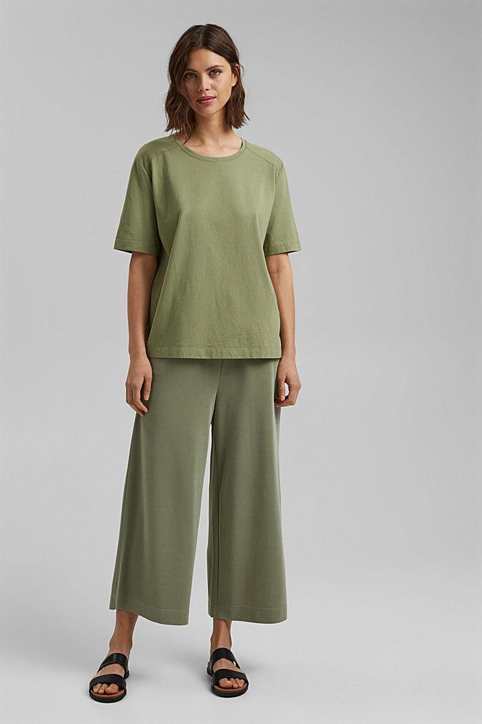 T-Shirt aus 100% Organic Cotton, LIGHT KHAKI, detail image number 1