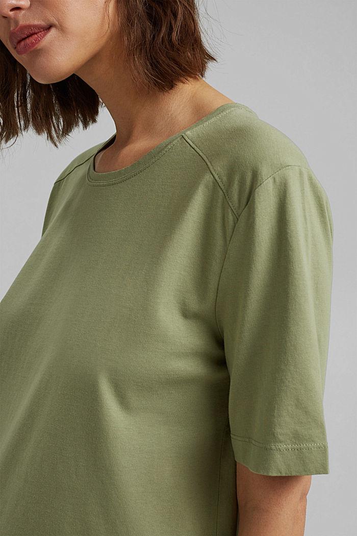 T-Shirt aus 100% Organic Cotton, LIGHT KHAKI, detail image number 2