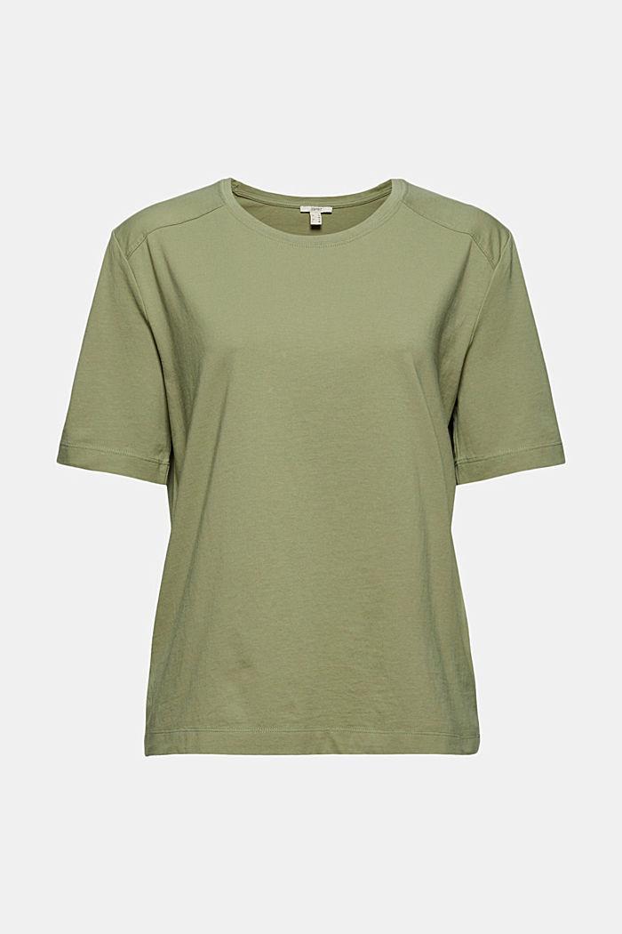 T-Shirt aus 100% Organic Cotton, LIGHT KHAKI, detail image number 6