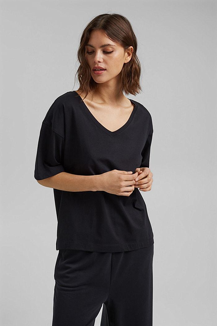 Oversize-t-paita 100 % luomupuuvillaa, BLACK, detail image number 0
