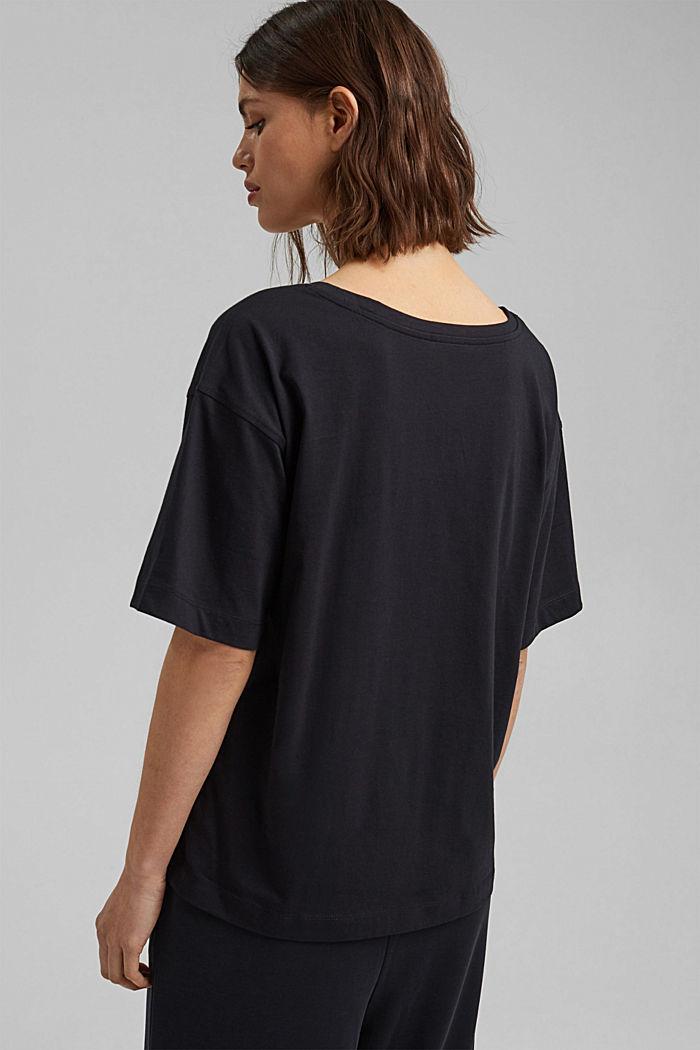 Oversize-t-paita 100 % luomupuuvillaa, BLACK, detail image number 3