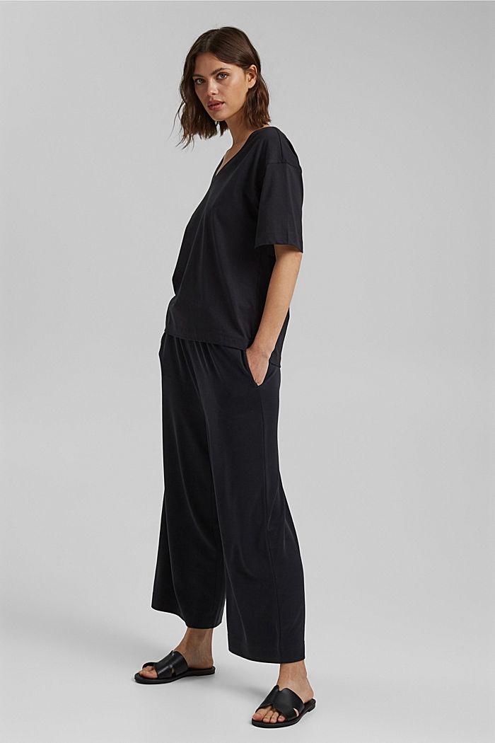 Oversize-t-paita 100 % luomupuuvillaa, BLACK, detail image number 1