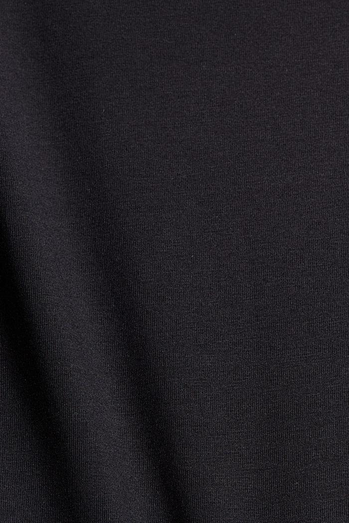 Oversize-t-paita 100 % luomupuuvillaa, BLACK, detail image number 4