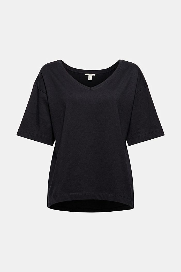 Oversize-t-paita 100 % luomupuuvillaa, BLACK, detail image number 5