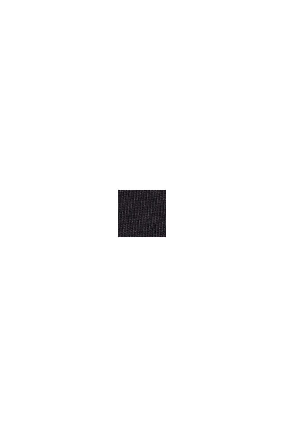 Oversized T-shirt van 100% biologisch katoen, BLACK, swatch