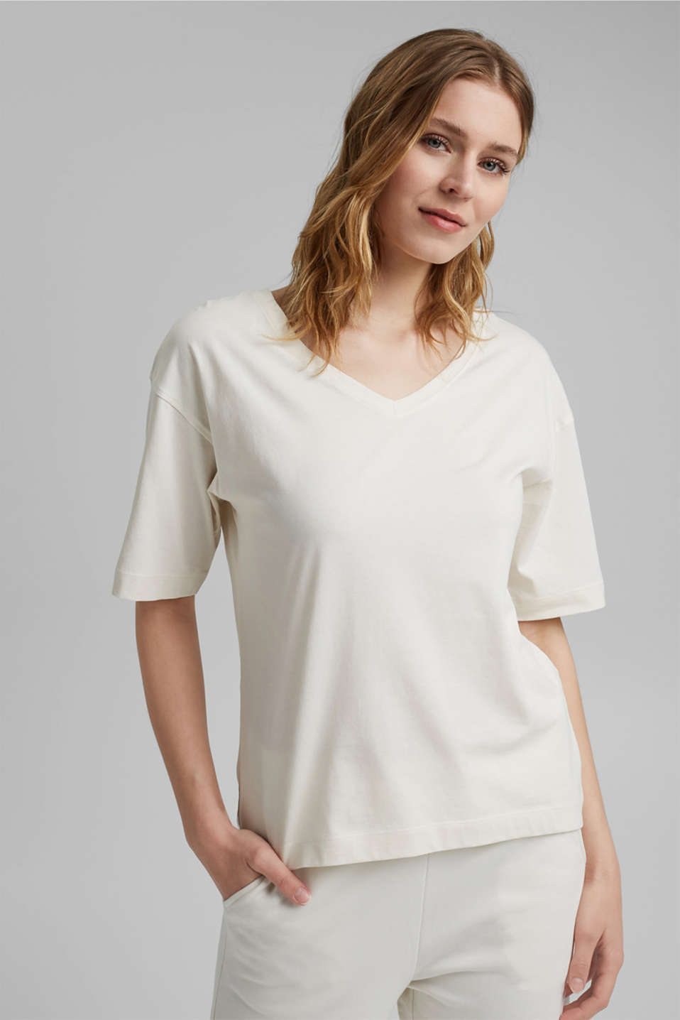 Esprit - Oversized T-shirt made of 100% organic cotton