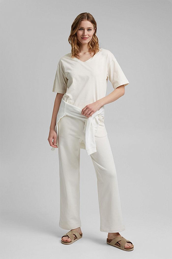 Oversize T-Shirt aus 100% Organic Cotton, OFF WHITE, detail image number 1