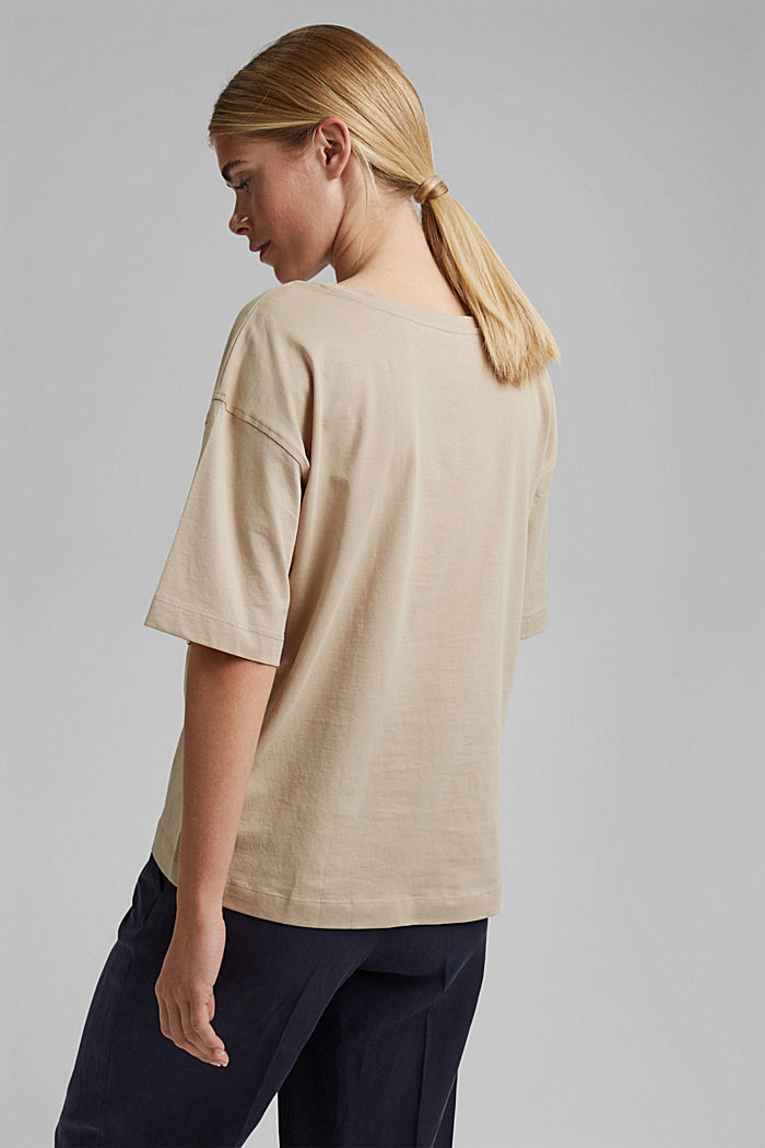 Oversized T-shirt made of 100% organic cotton, SAND, detail image number 3