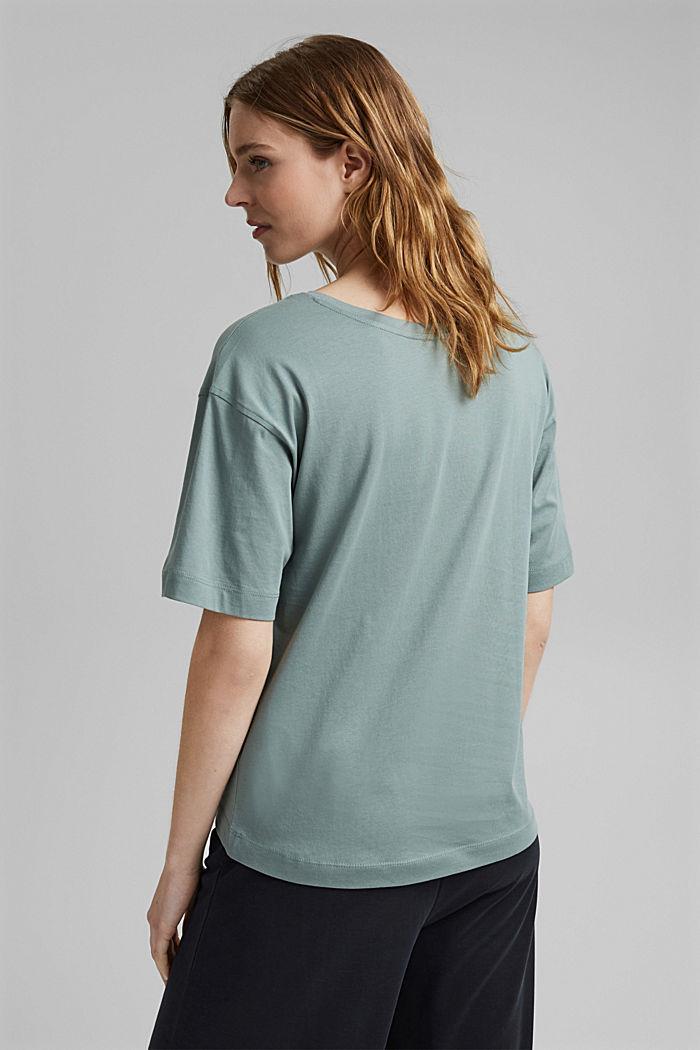 Oversize-t-paita 100 % luomupuuvillaa, TURQUOISE, detail image number 3