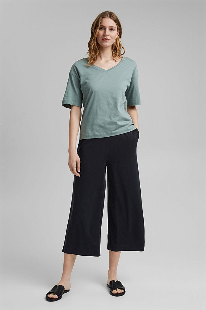 Oversize-t-paita 100 % luomupuuvillaa, TURQUOISE, detail image number 1