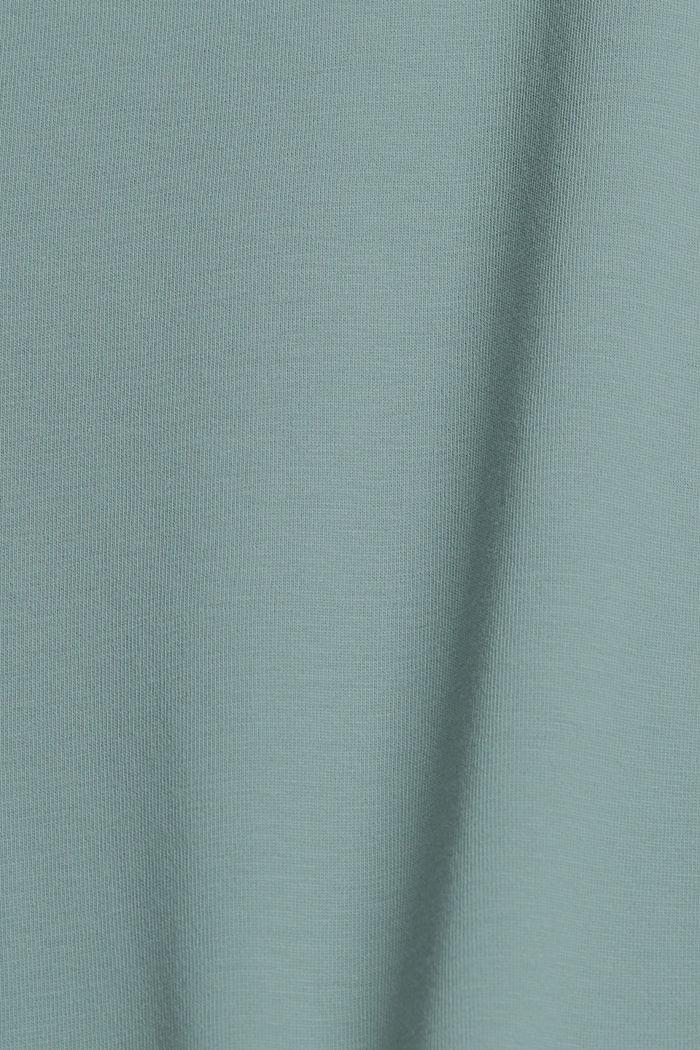 Oversize-t-paita 100 % luomupuuvillaa, TURQUOISE, detail image number 4