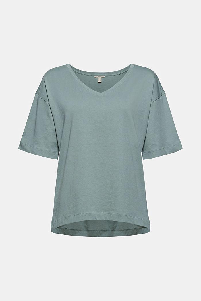 Oversize-t-paita 100 % luomupuuvillaa, TURQUOISE, detail image number 5