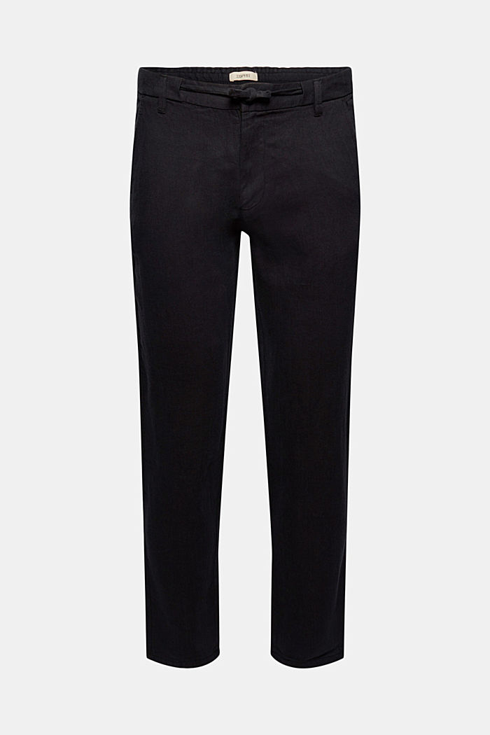 Relaxed trousers in premium linen