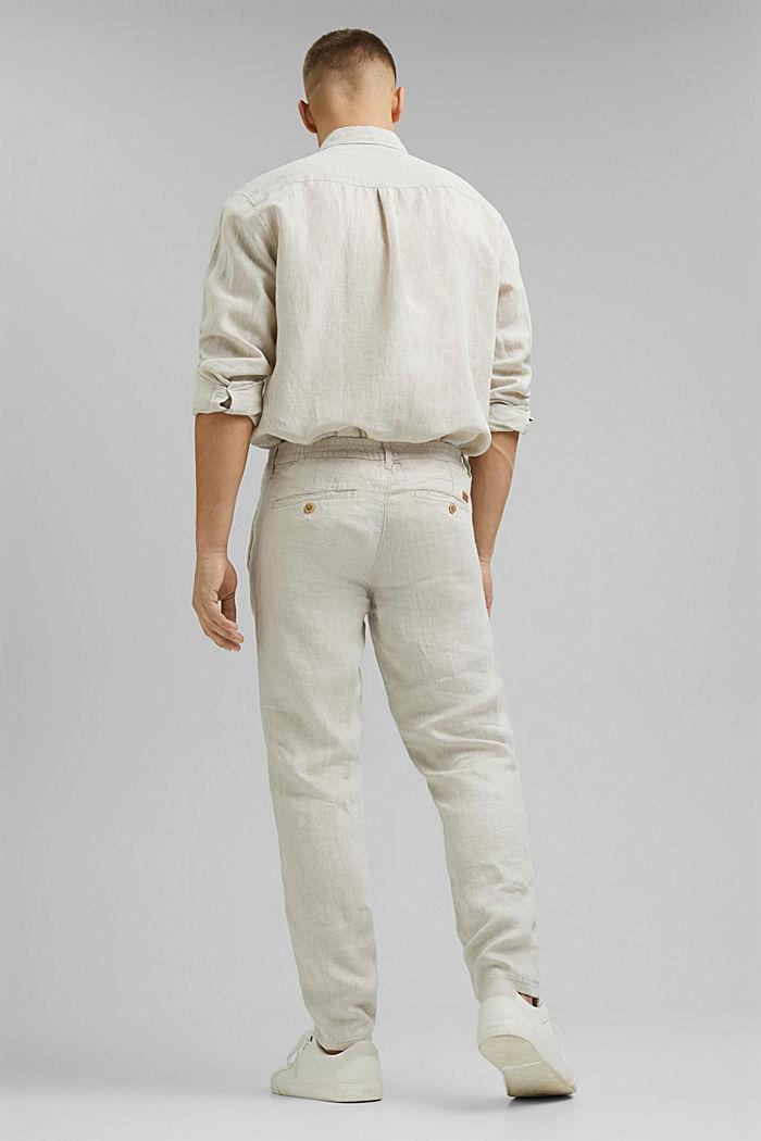 Relaxte Hose aus Premium Leinen, OFF WHITE, detail image number 3