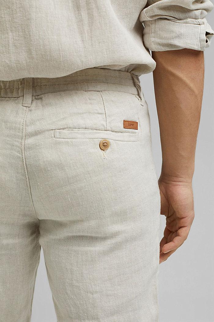 Relaxte Hose aus Premium Leinen, OFF WHITE, detail image number 5