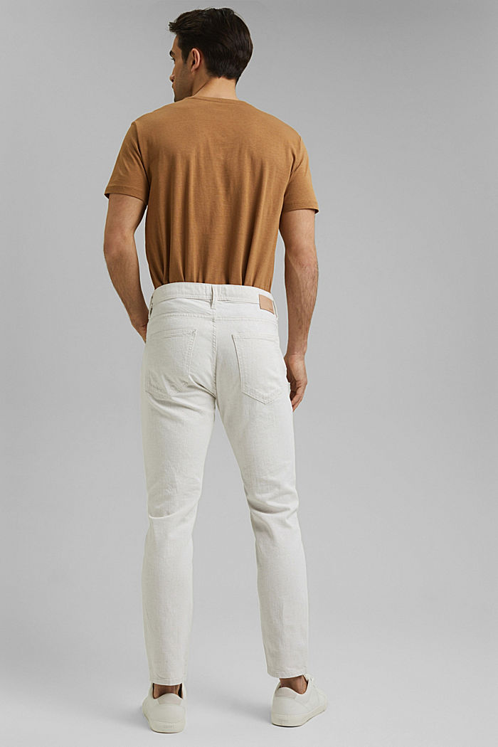 Mit Organic Cotton/Leinen: leichte Jeans, WHITE, detail image number 1