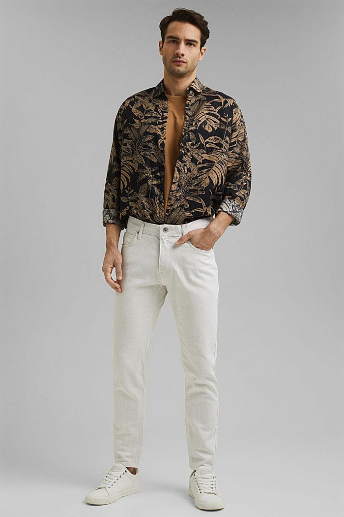Mit Organic Cotton/Leinen: leichte Jeans, WHITE, detail image number 2