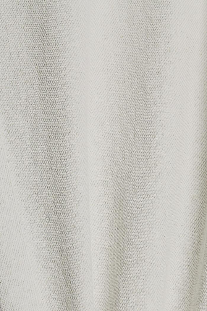 Mit Organic Cotton/Leinen: leichte Jeans, WHITE, detail image number 5