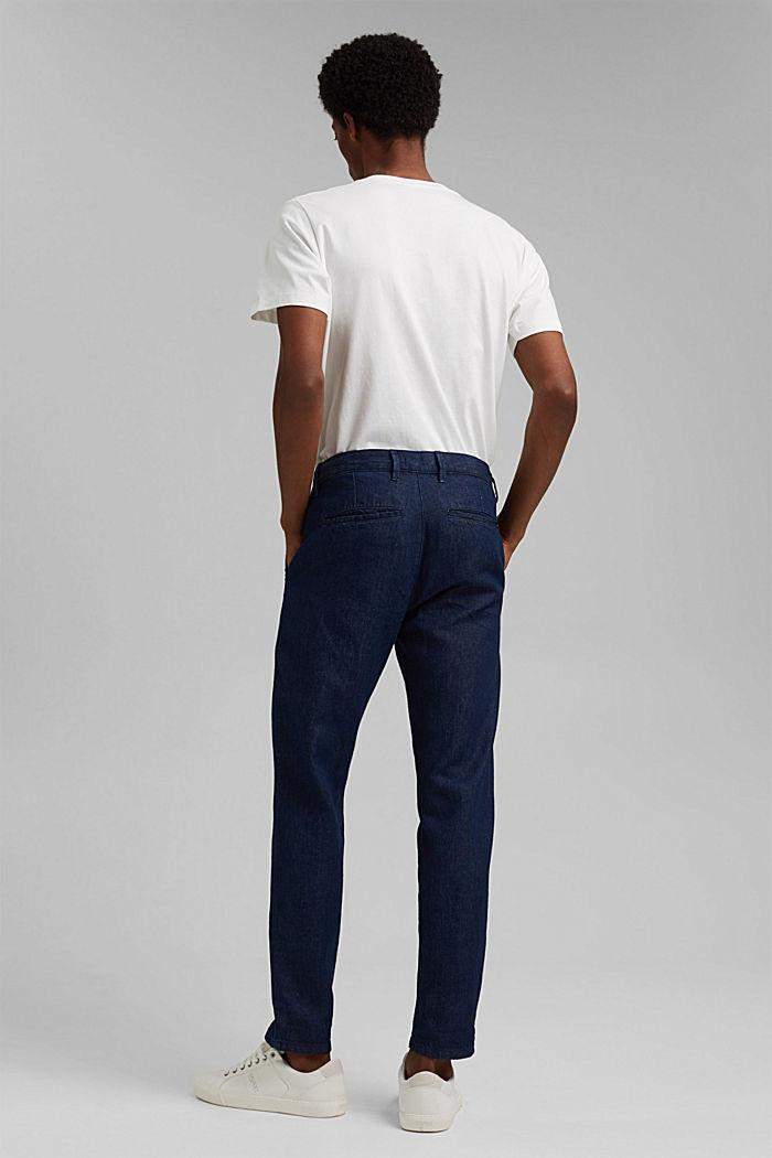 Jeans im Chino-Stil mit Bio-Baumwolle, BLUE DARK WASHED, detail image number 1
