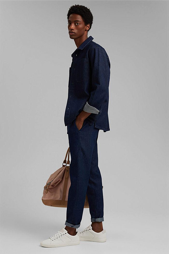 Pants denim Relaxed fit, BLUE DARK WASHED, detail image number 2