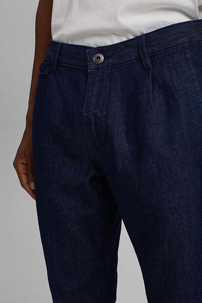 Jeans im Chino-Stil mit Bio-Baumwolle, BLUE DARK WASHED, detail image number 3