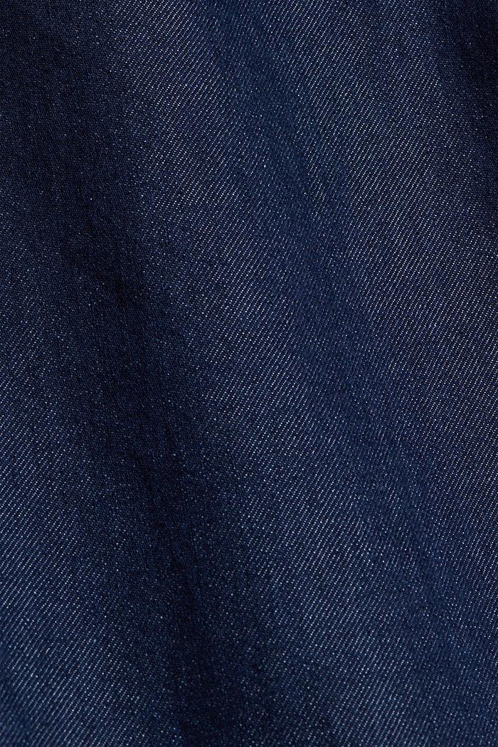 Jeans im Chino-Stil mit Bio-Baumwolle, BLUE DARK WASHED, detail image number 5