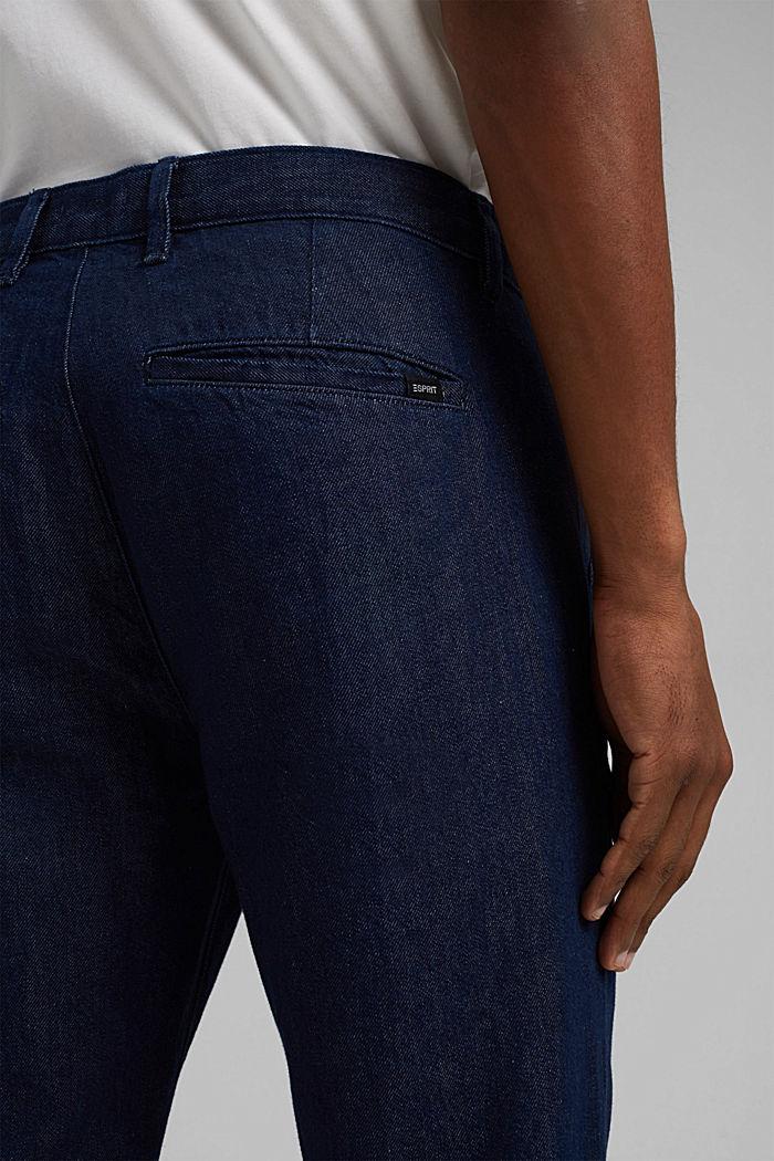 Jeans im Chino-Stil mit Bio-Baumwolle, BLUE DARK WASHED, detail image number 6