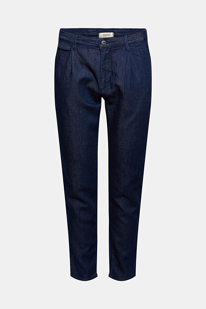 Pants denim Relaxed fit, BLUE DARK WASHED, detail image number 7