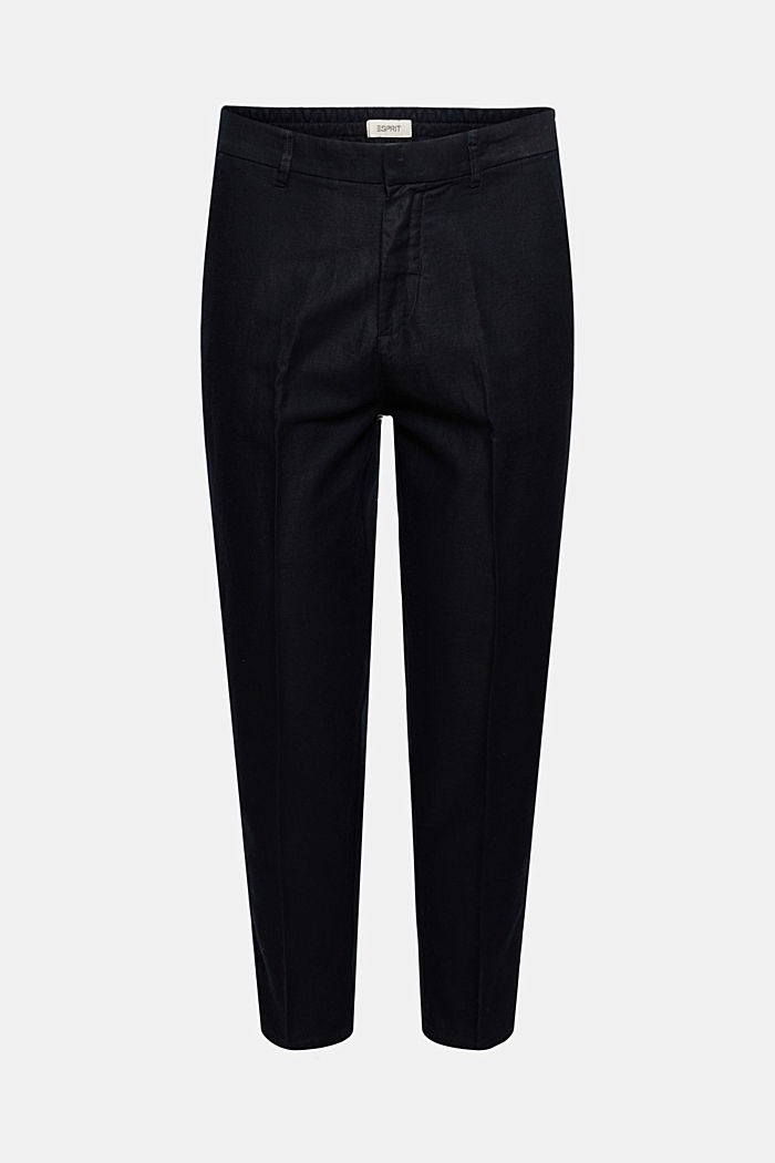 Chino tracksuit bottoms in a linen/organic cotton blend