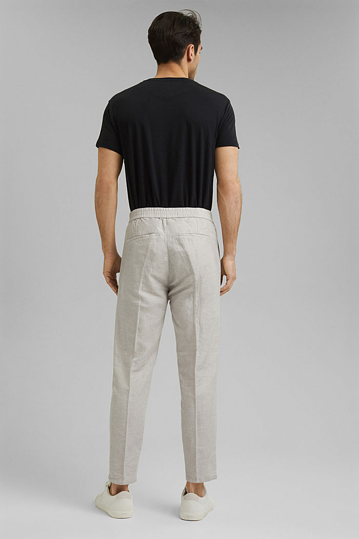 Mit Leinen/Organic Cotton: Jogg-Chino, OFF WHITE, detail image number 3