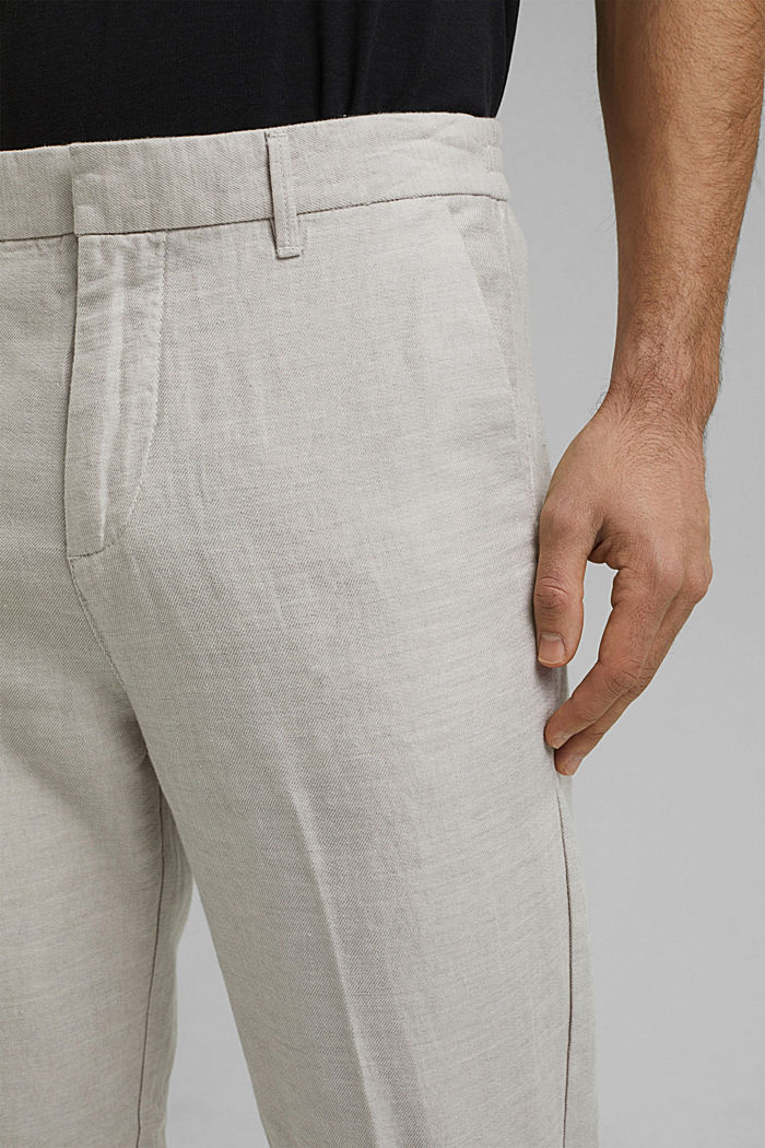 Mit Leinen/Organic Cotton: Jogg-Chino, OFF WHITE, detail image number 2