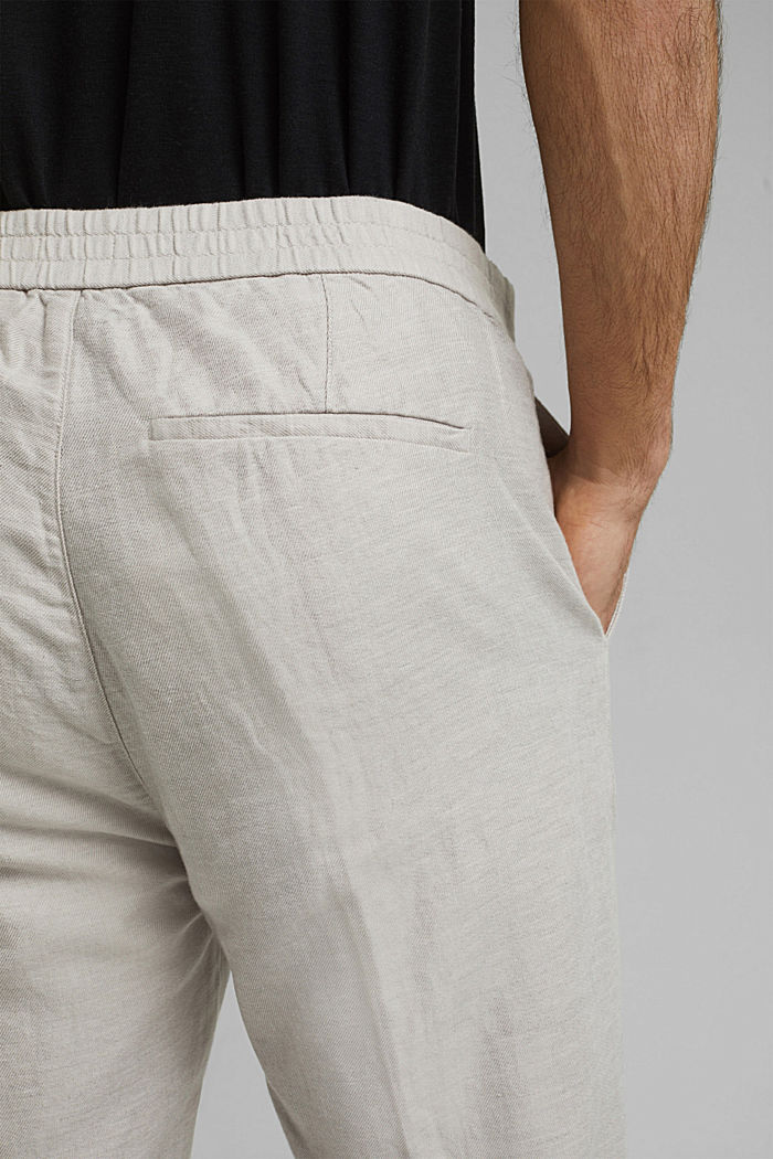 Mit Leinen/Organic Cotton: Jogg-Chino, OFF WHITE, detail image number 5